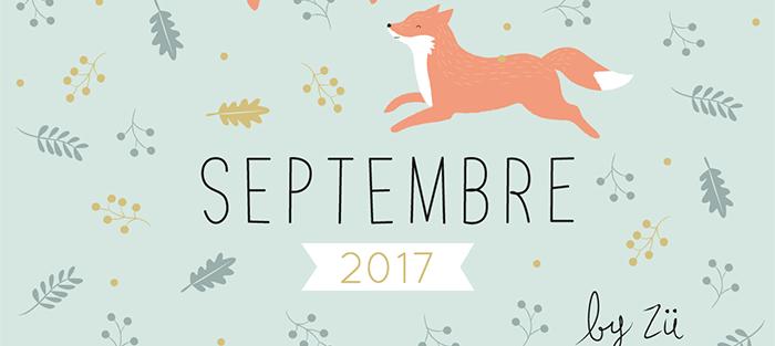 Calendrier Septembre 2017 Zü