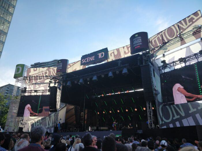 TD stage at Montreal Jazz Festival