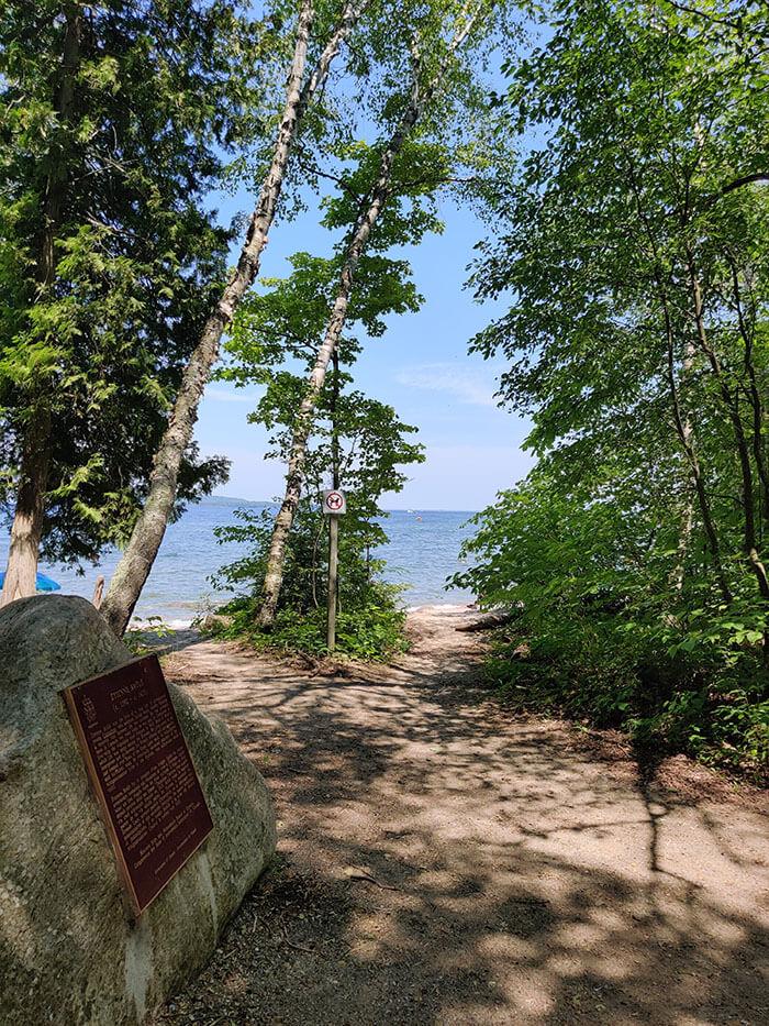 Vue sur la plage du Parc Awenda - Marinoushka