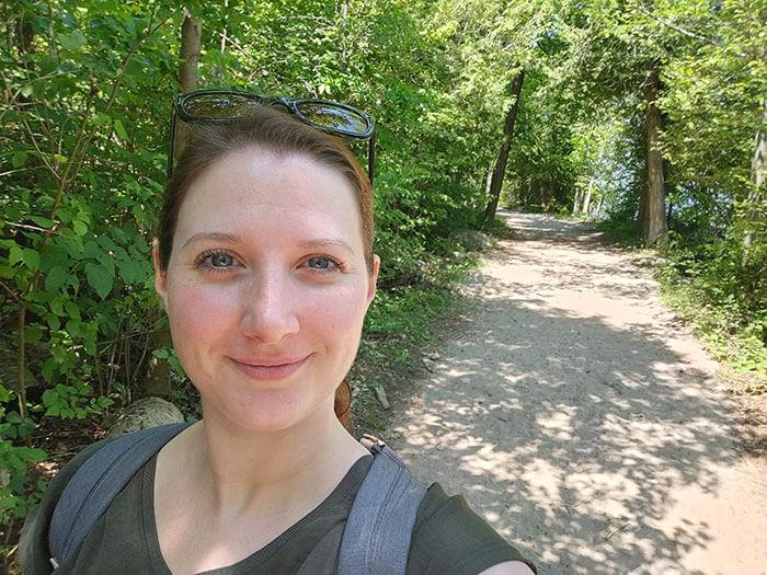 Selfie lors de la balade au Parc Awenda - Marinoushka